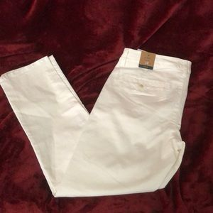 AEO Stretch Skinny Low Rise White Pant